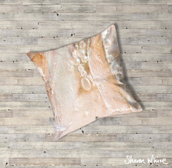 Sharon White Art Trust Floor Cushions Crystal