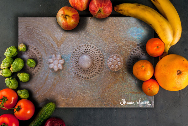Sharon White Art Chopping Board Ascension Chakra