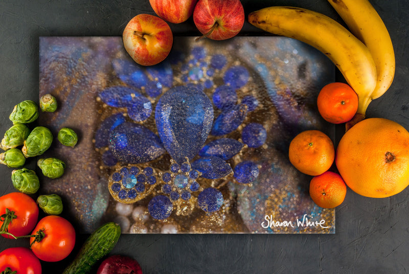 Sharon White Art Chopping Board Ascension Ocean Jewel
