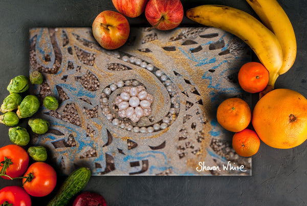 Sharon White Art Chopping Board Ascension Swirl
