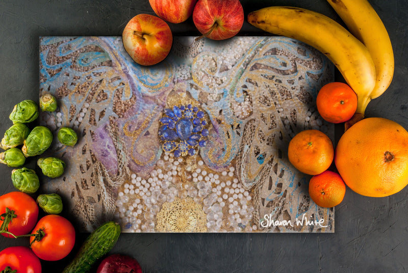 Sharon White Art Chopping Board Ascension Timeless