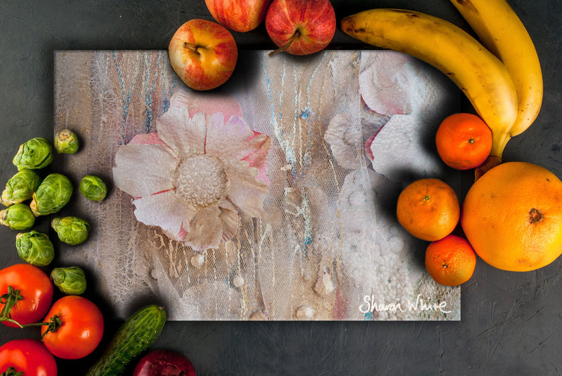 Sharon White Art Chopping Board Lightness of Being Protected