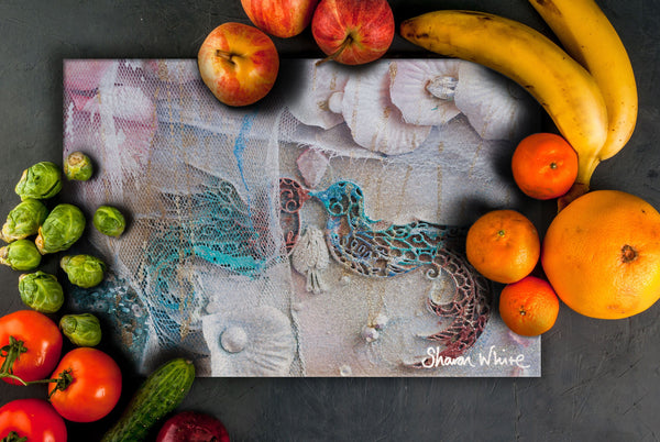 Sharon White Art Chopping Board Lightness of Being The Kiss