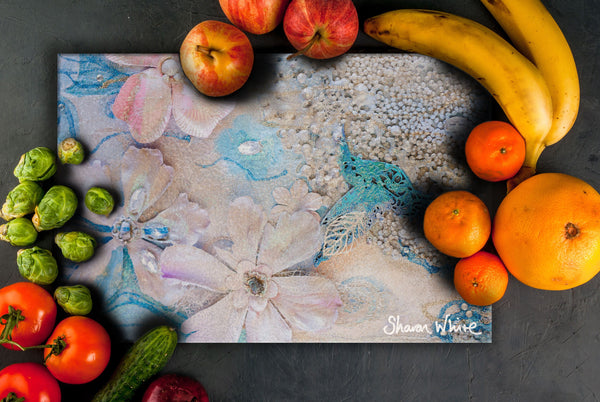 Sharon White Art Chopping Board Lightness of Being Tranquil