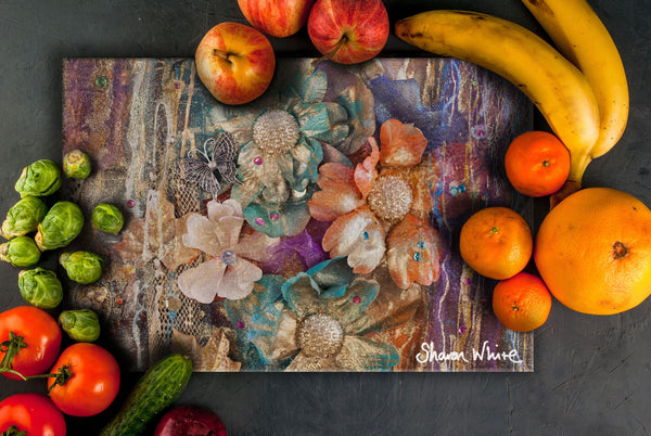 Sharon White Art Chopping Board Renewal Cluster