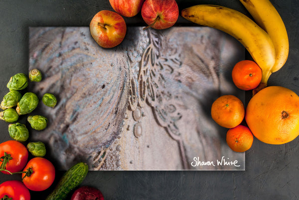 Sharon White Art Chopping Board Trust Believe
