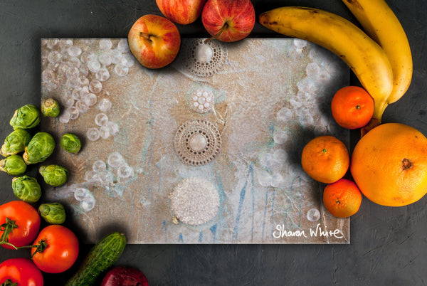 Sharon White Art Chopping Board Ascension Quiet