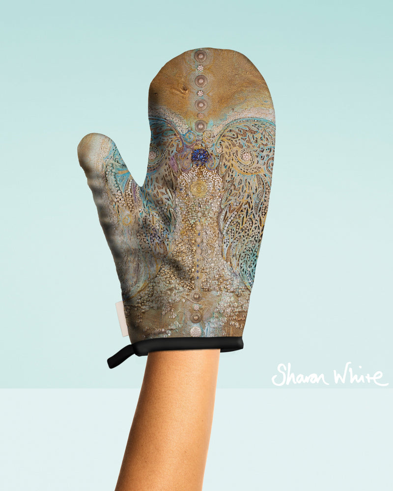 Sharon White Art Oven Glove Ascension Collection Full Ascension