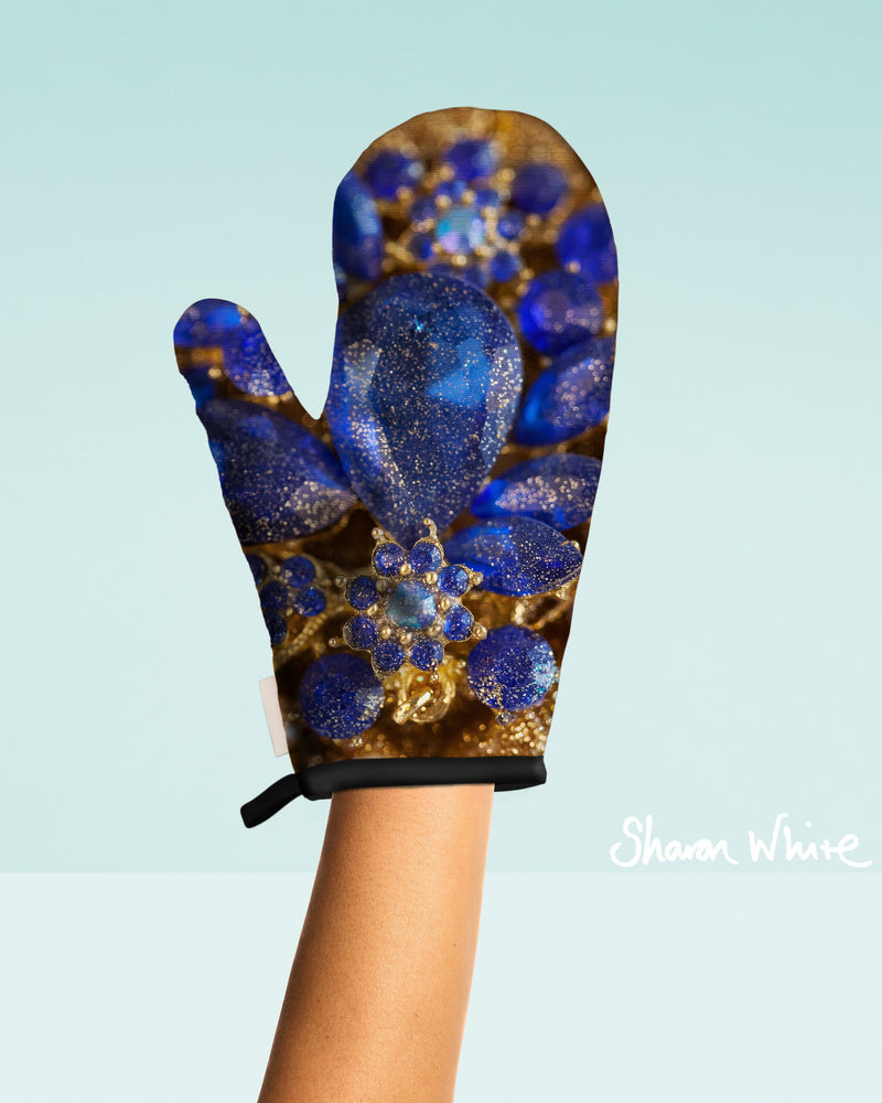 Sharon White Art Oven Glove Ascension Collection Ocean Jewel