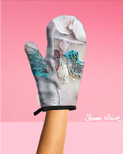 Sharon White Art Oven Glove Lightness of Being Collection The Kiss