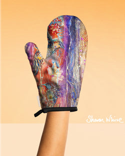 Sharon White Art Oven Glove Renewal Collection Flowers