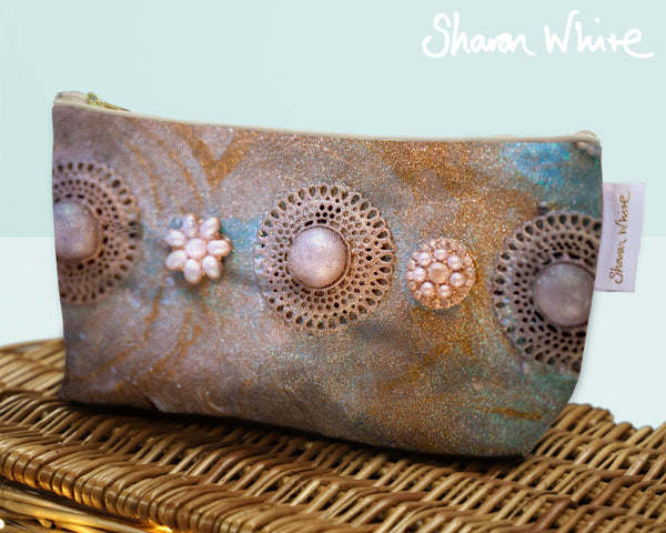 Sharon White Art Wash Bags Ascension Chakra cosmetic