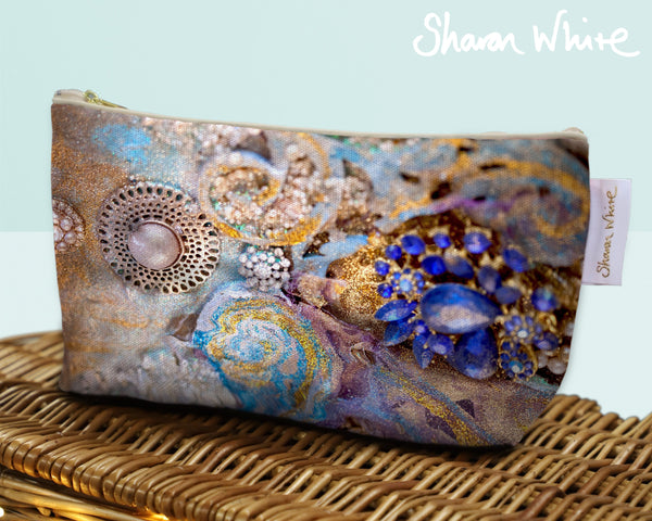 Sharon White Art Wash Bags Ascension Jewel make up bag