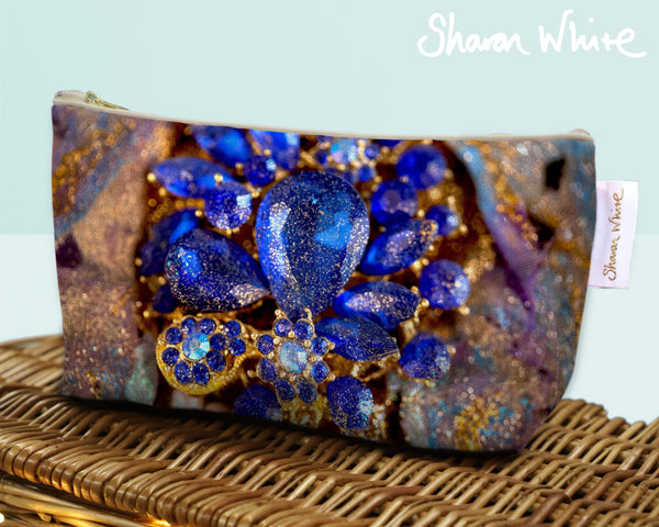 Sharon White Art Wash Bags Ascension Ocean Jewel make up bag small