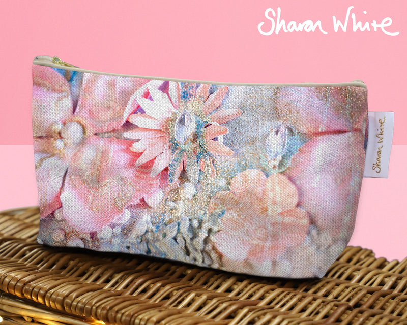 Sharon White Art Wash Bags Lightness Arabian Pink cosmetic large