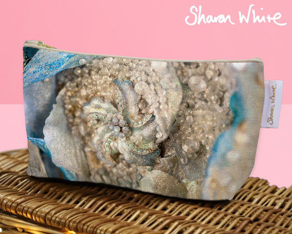 Sharon White Art Wash Bags Lightness Diamond Cluster toiletry bag medium