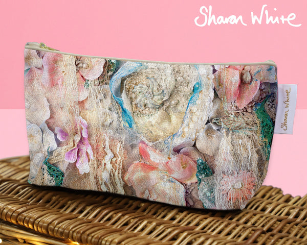 Sharon White Art Wash Bags Lightness Secret Bloom make up large