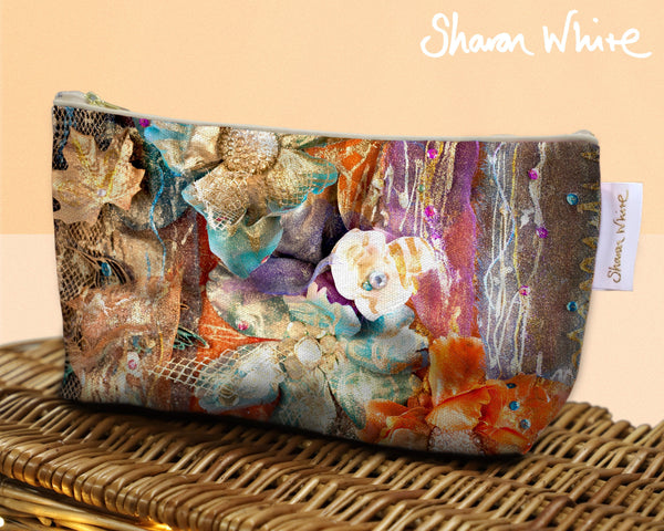 Sharon White Art Wash Bags Renewal Bloom