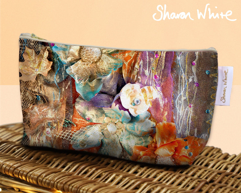 Sharon White Art Wash Bags Renewal Bloom make up bag larger