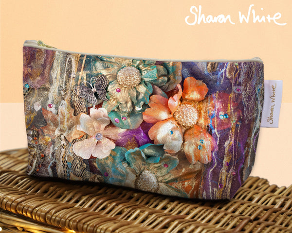 Sharon White Art Wash Bags Renewal Cluster cosmetic bag small