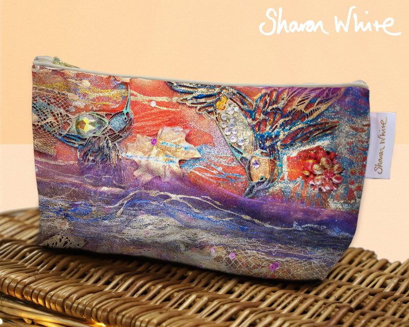 Sharon White Art Wash Bags Renewal Flowers toiletry bag large