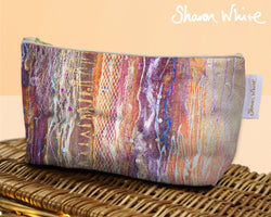 Sharon White Art Wash Bags Renewal Fuzzy Sequence cosmetic small