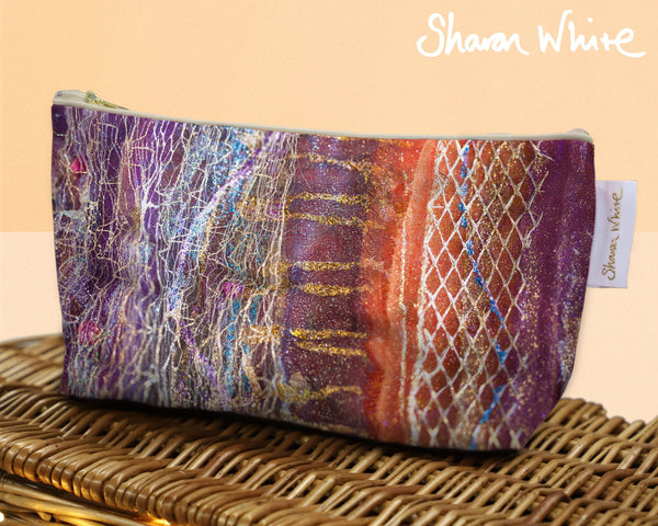 Sharon White Art Wash Bags Renewal Dynamic Stripe