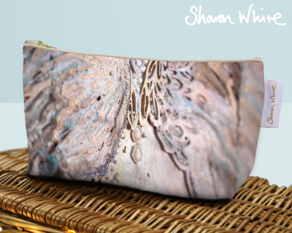 Sharon White Art Wash Bags Trust Believe small toiletry bag