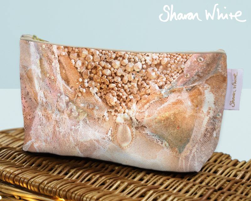 Sharon White Art Wash Bags Trust Cascade large make up bag