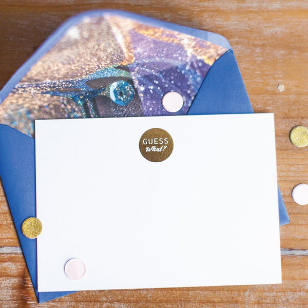 Correspondence Cards by Sharon White Art blue