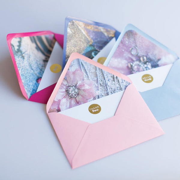 Correspondence Cards by Sharon White Art pink