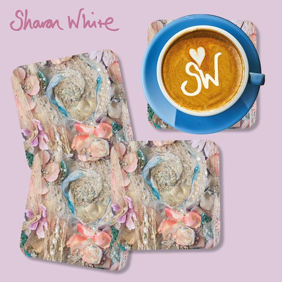 Sharon White Lightness of Being Coasters Secret Bloom