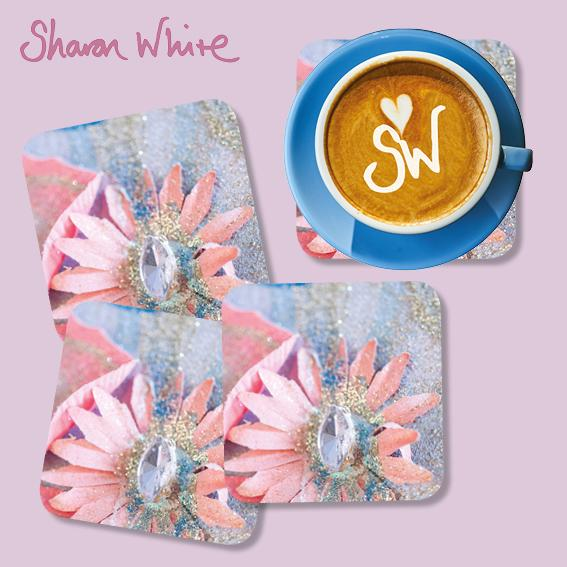 Sharon White Lightness of Being Coasters Arabian Pink