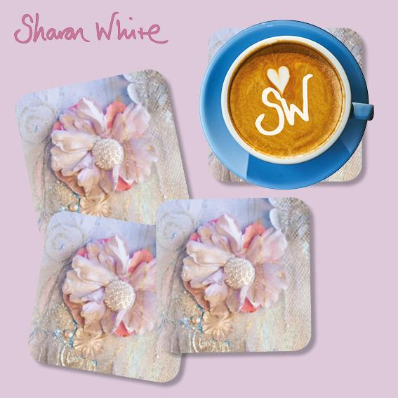 Sharon White Lightness of Being Coasters Delicate Love