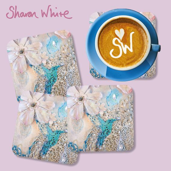 Sharon White Lightness of Being Coasters Tranquil