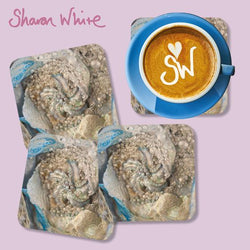 Sharon White Lightness of Being Coasters Diamond Cluster
