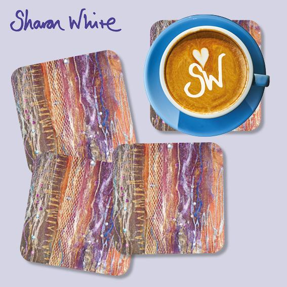 Sharon White Renewal Coasters Fuzzy