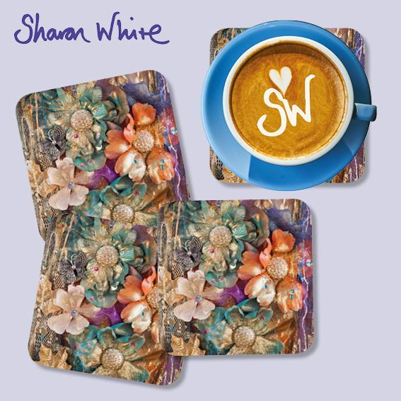 Sharon White Renewal Coasters Flowers