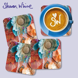 Sharon White Renewal Coasters Amber Nectar