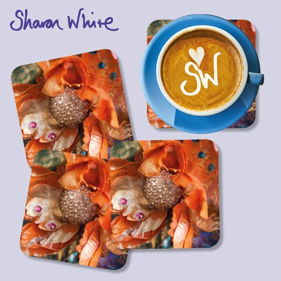 Sharon White Renewal Coasters Orange