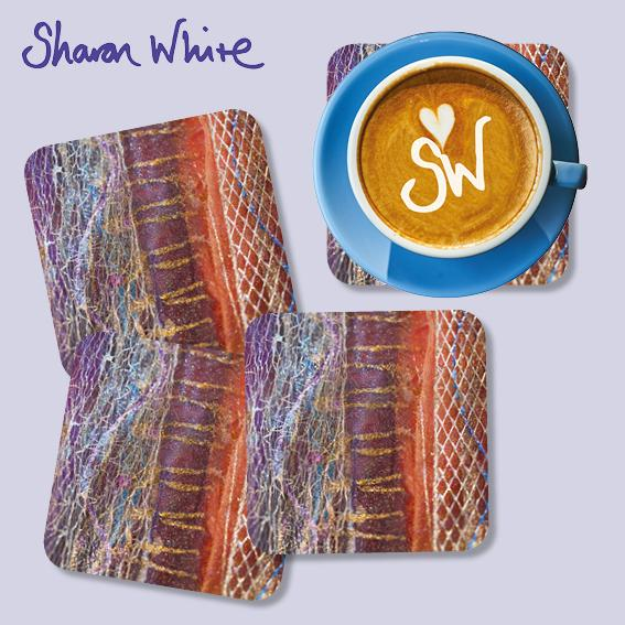 Sharon White Renewal Coasters Dynamic Stripe