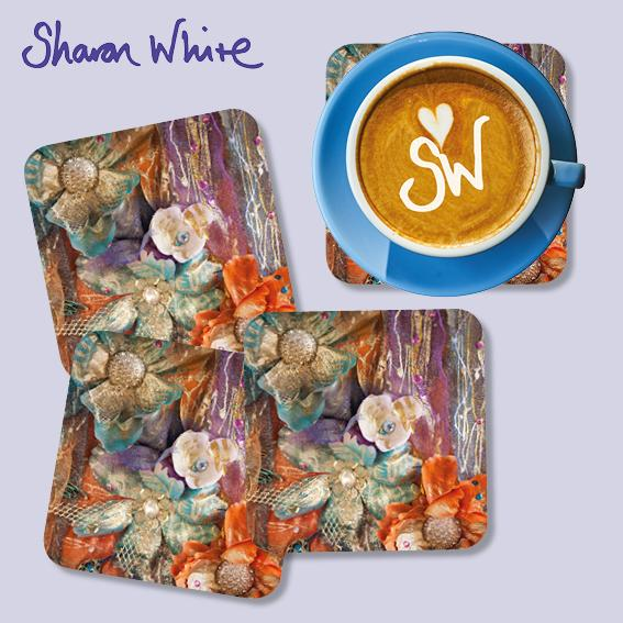 Sharon White Renewal Coasters Bloom