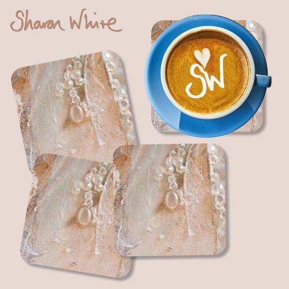 Sharon White Trust Coasters Crystal