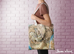 Sharon White Art Tote Bag Collection Lightness of Being Diamond Cluster