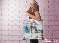 Sharon White Art Tote Bag Collection Lightness of Being Full The Kiss