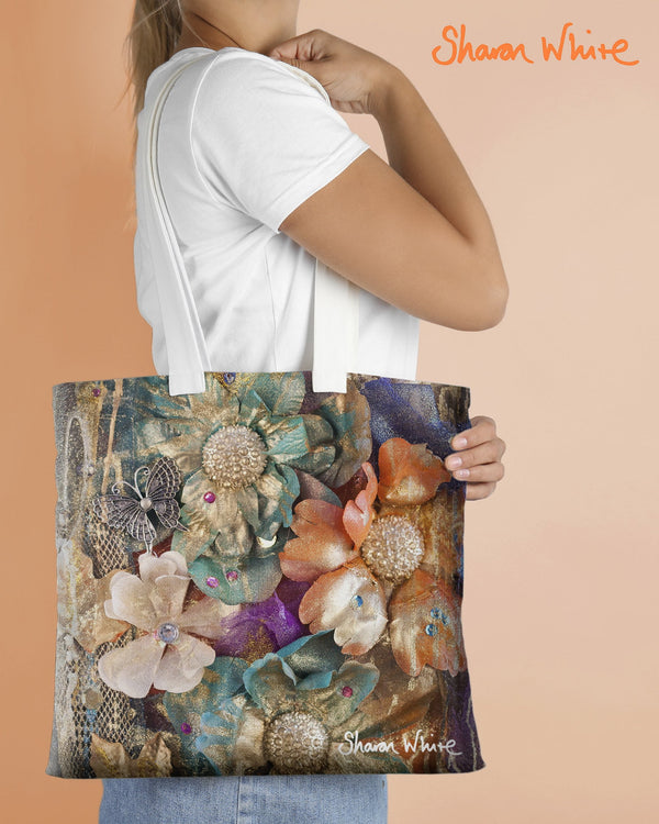 Sharon White Art Tote Bag Collection Renewal Cluster