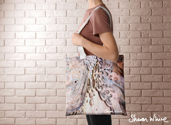Sharon White Art Tote Bag Collection Trust Believe