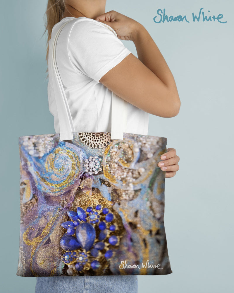 Sharon White Art Tote Bag Collection Ascension Jewels
