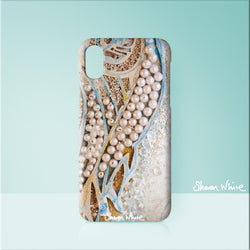 Sharon White Art Phone Case Ascension Asymmetric Pearl