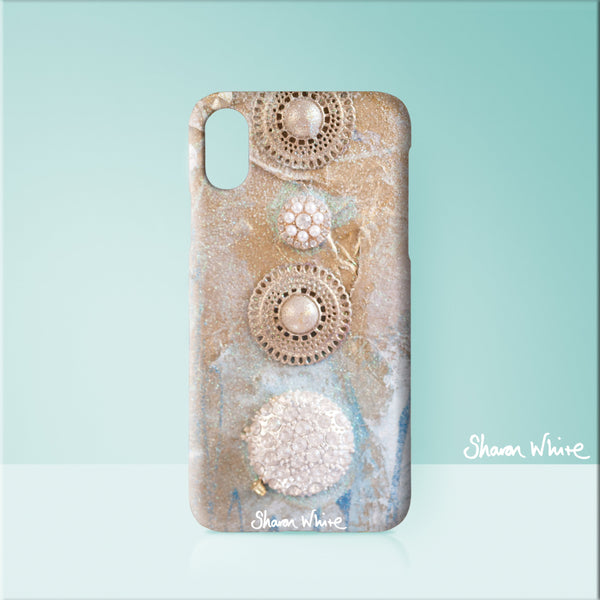 Sharon White Art Phone Case Ascension Quiet